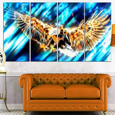 Soaring Eagle Metal Wall Art, 48x28, 4 Panels, (MT2445-271)