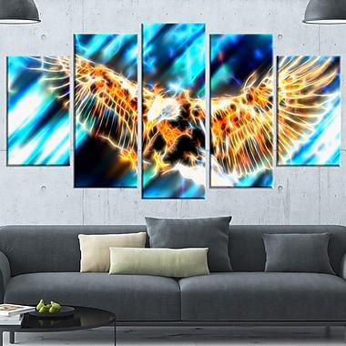 Aigle volant art mural en métal, 60 x 32, 5 panneaux (MT2445-373)