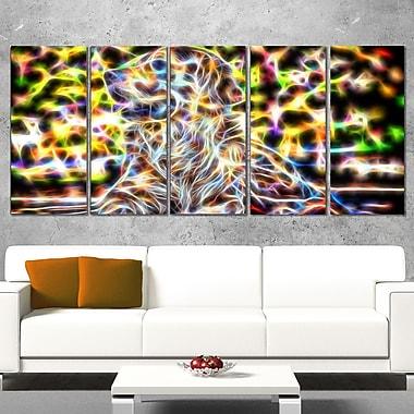 Colourful Retriever Metal Wall Art