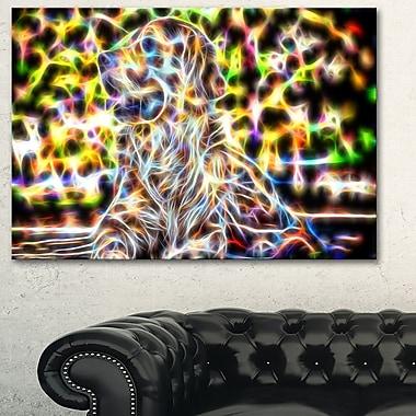 Retriever coloré art mural en métal, 28 x 12 (MT2446-28-12)