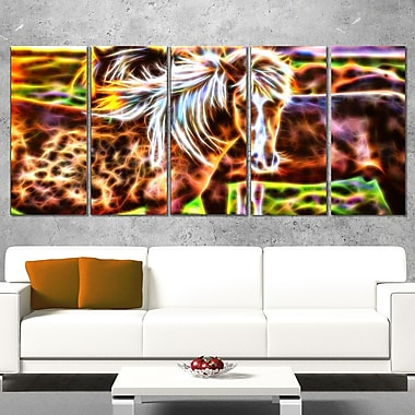 Horse Embrace Metal Wall Art, 60x28, 5 Panels, (MT2450-401)