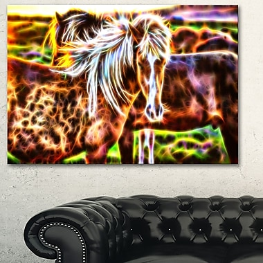 Horse Embrace Metal Wall Art, 28x12, (MT2450-28-12)