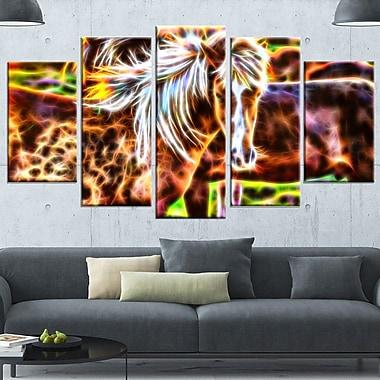 Horse Embrace Metal Wall Art, 60x32, 5 Panels, (MT2450-373)