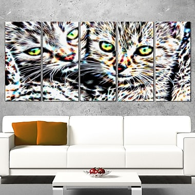 Cuddling Kittens Metal Wall Art