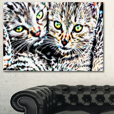 Cuddling Kittens Metal Wall Art, 28x12, (MT2452-28-12)