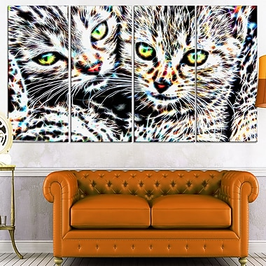 Cuddling Kittens Metal Wall Art, 48x28, 4 Panels, (MT2452-271)