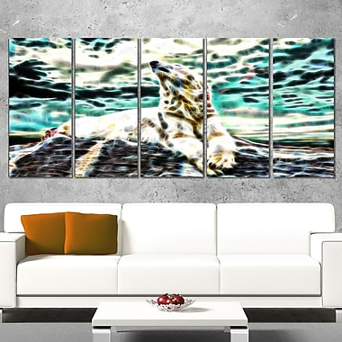 Polar Bear at Rest Metal Wall Art, 60x28, 5 Panels, (MT2453-401)