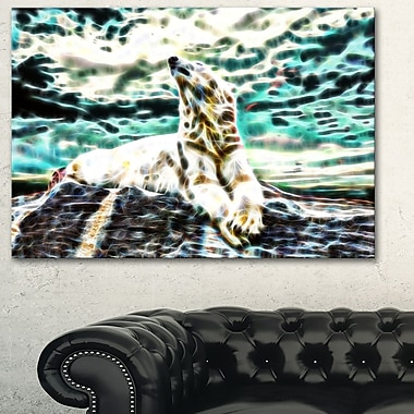 Polar Bear at Rest Metal Wall Art, 28x12, (MT2453-28-12)