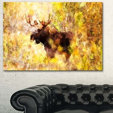 Magnificent Moose Metal Wall Art, 28x12, (MT2454-28-12)