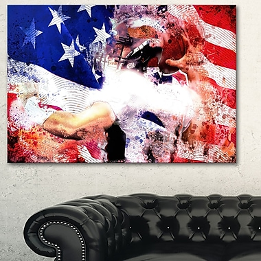Football USA Quarterback Metal Wall Art, 28x12, (MT2503-28-12)