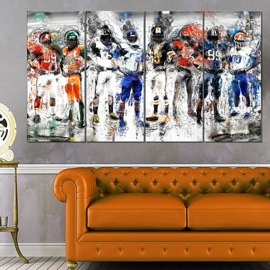 Football Team Metal Wall Art, 48x28, 4 Panels, (MT2505-271)