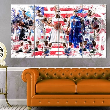 USA Basketball Metal Wall Art, 48x28, 4 Panels, (MT2508-271)
