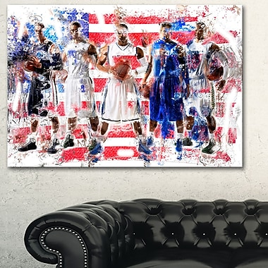 USA Basketball Metal Wall Art, 28x12, (MT2508-28-12)