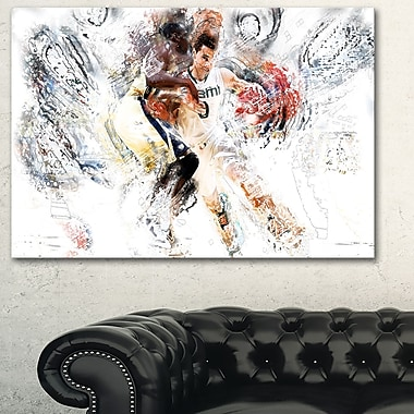 Basketball Pick and Roll Metal Wall Art, 28x12, (MT2510-28-12)