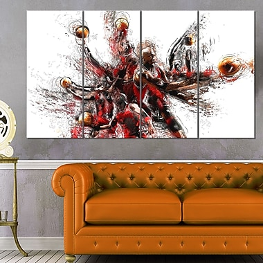 Basketball Lay Up Metal Wall Art, 48x28, 4 Panels, (MT2513-271)