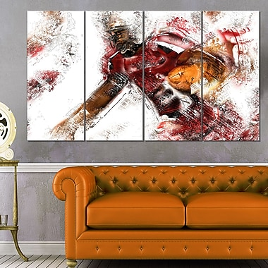 Football Live Ball Metal Wall Art, 48x28, 4 Panels, (MT2518-271)
