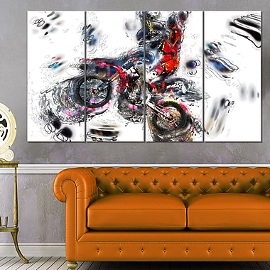 Moto Cross Sports Metal Wall Art, 48x28, 4 Panels, (MT2520-271)