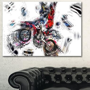 Moto Cross Sports Metal Wall Art, 28x12, (MT2520-28-12)