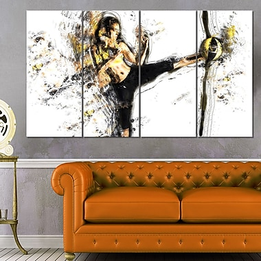 Kick Ball Metal Wall Art, 48x28, 4 Panels, (MT2521-271)