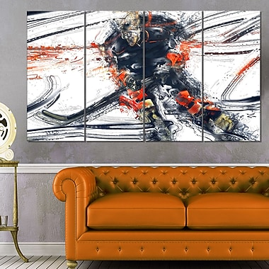 Hockey In Motion Metal Wall Art, 48x28, 4 Panels, (MT2528-271)