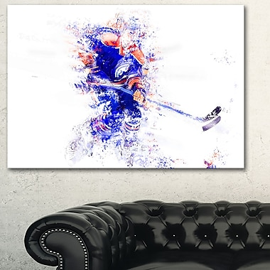 Hockey Let's Go Defense Metal Wall Art, 28x12, (MT2529-28-12)