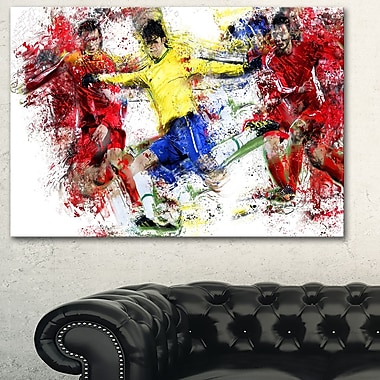Soccer Break Away Metal Wall Art, 28x12, (MT2531-28-12)