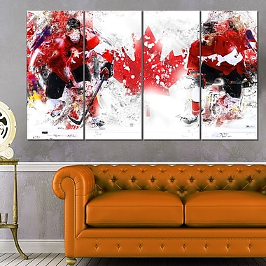 Hockey In Canada Metal Wall Art, 48x28, 4 Panels, (MT2533-271)