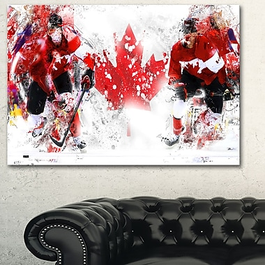 Hockey In Canada Metal Wall Art, 28x12, (MT2533-28-12)