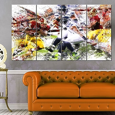 Football Possession Metal Wall Art, 48x28, 4 Panels, (MT2535-271)