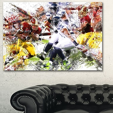 Football Possession Metal Wall Art, 28x12, (MT2535-28-12)