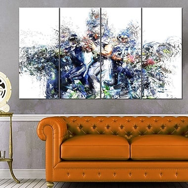 Football Strategic Plays Metal Wall Art, 48x28, 4 Panels, (MT2538-271)