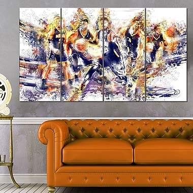 Basketball Let's Go Offense Metal Wall Art
