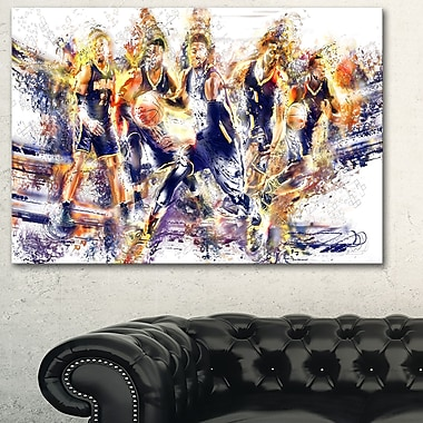 Basketball Let's Go Offense Metal Wall Art, 28x12, (MT2540-28-12)