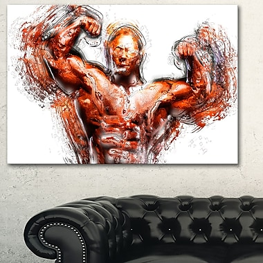 Body Building Lean Out Metal Wall Art, 28x12, (MT2543-28-12)