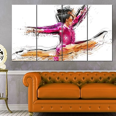 Gymnastics Split Metal Wall Art, 48x28, 4 Panels, (MT2544-271)
