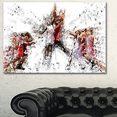 Basketball Jump Shot Metal Wall Art, 28x12, (MT2547-28-12)