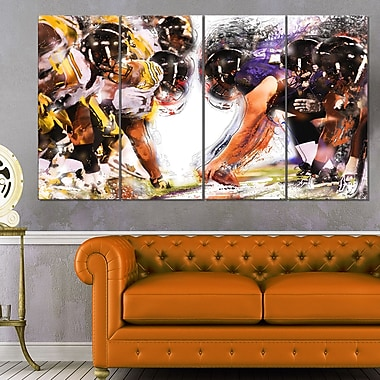 Football Hut Metal Wall Art, 48x28, 4 Panels, (MT2548-271)