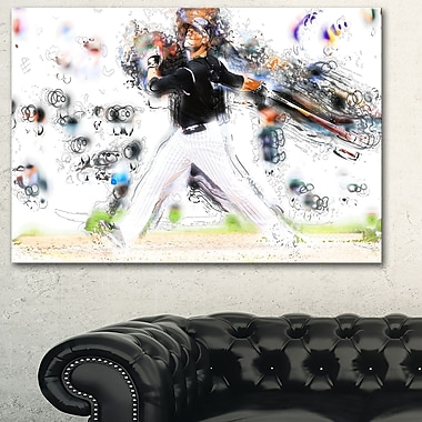 Baseball Home Run Metal Wall Art, 28x12, (MT2549-28-12)
