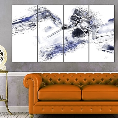 Skiing Down Hill Metal Wall Art, 48x28, 4 Panels, (MT2552-271)