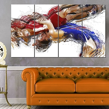 Wrestling Body Slam Metal Wall Art