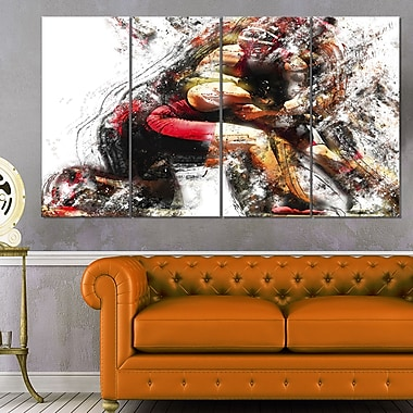 Wrestling in Action Metal Wall Art
