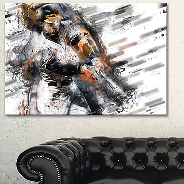 Baseball Power Slam Metal Wall Art, 28x12, (MT2556-28-12)