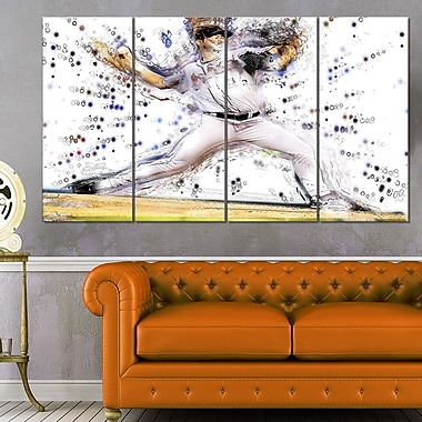 Baseball Pitcher Metal Wall Art