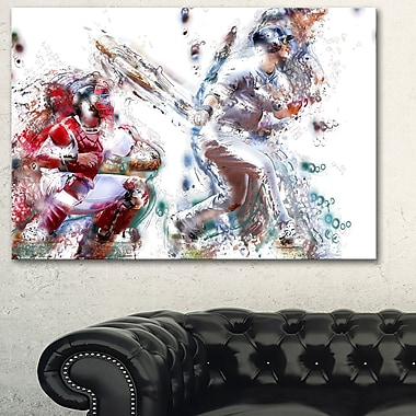 Baseball Strike Metal Wall Art, 28x12, (MT2560-28-12)