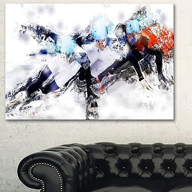 Speed Skating Finish Line Metal Wall Art, 28x12, (MT2561-28-12)