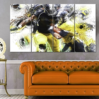 Football Ball in Play Metal Wall Art, 48x28, 4 Panels, (MT2563-271)