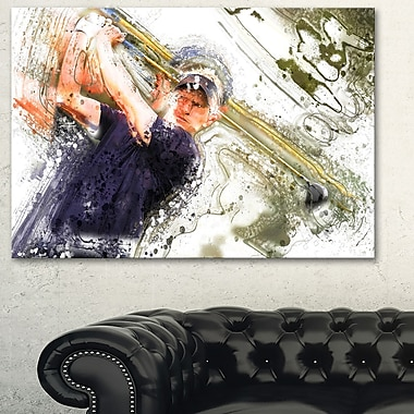 Baseball Batter Metal Wall Art, 28x12, (MT2564-28-12)