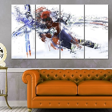 Skiing Down Hill Race Metal Wall Art