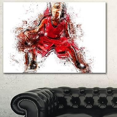 Basketball Dribble Metal Wall Art, 28x12, (MT2569-28-12)