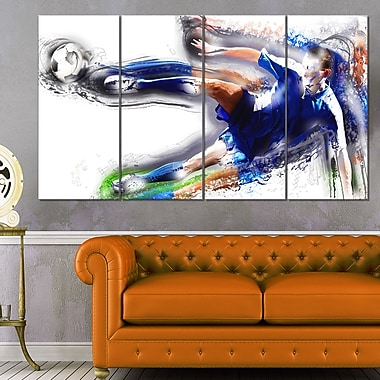 Soceer Big Kick Metal Wall Art